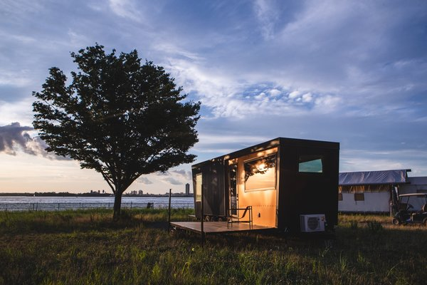"Outlook Shelter epitomizes rugged luxury. ""All our features and innovations are integrated in one modular unit, so we can move and operate it quickly,"" says Peter Mack, founder and CEO of Collective Retreats."