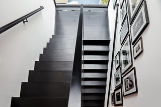 """It's a little black volume that sits inside,"" says Reddymade founder Suchi Reddy of the sculptural staircase."
