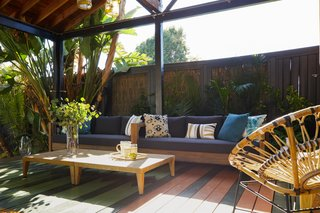 The peaceful cabana, decked out with furniture from Vancouver-based Article.