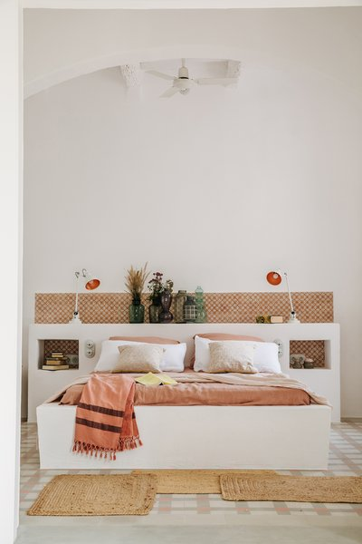 Atelier du Pont crafted the mix of different headboards—look out for the built-in nightstands— for the bedrooms.