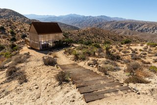 High on the desert, the cabin's greatest draw is its environs.