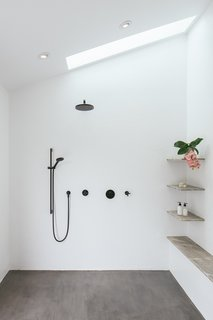 Even the shower embraces the neutral palette.
