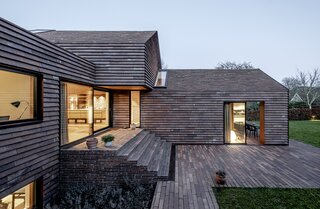 A Series of Interlocking Gables Create a Light-Filled Family Home in Denmark