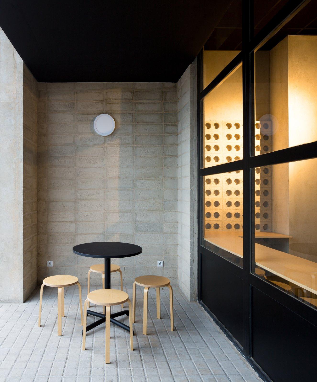 Exterior Intermediate exterior-interior area.  IMOOD Restaurant