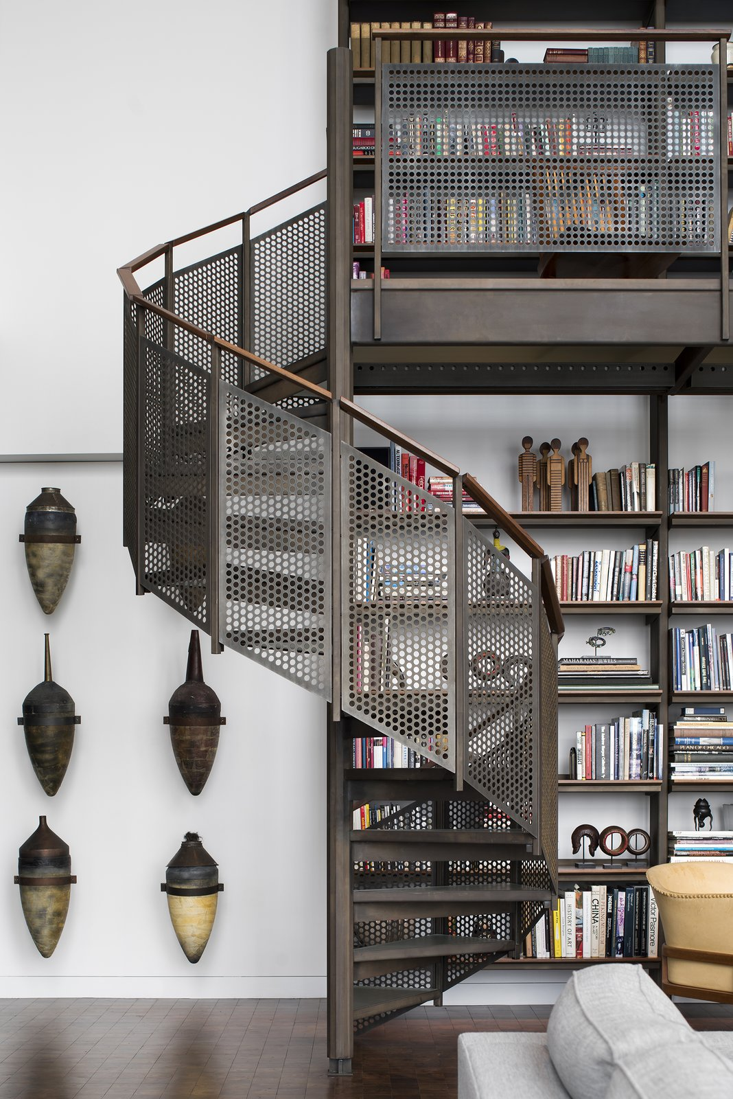 Residence for Two Collectors staircase