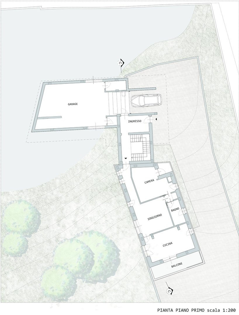 Outdoor First Floor Plan  Villa Rambo