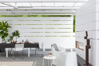white screen wall