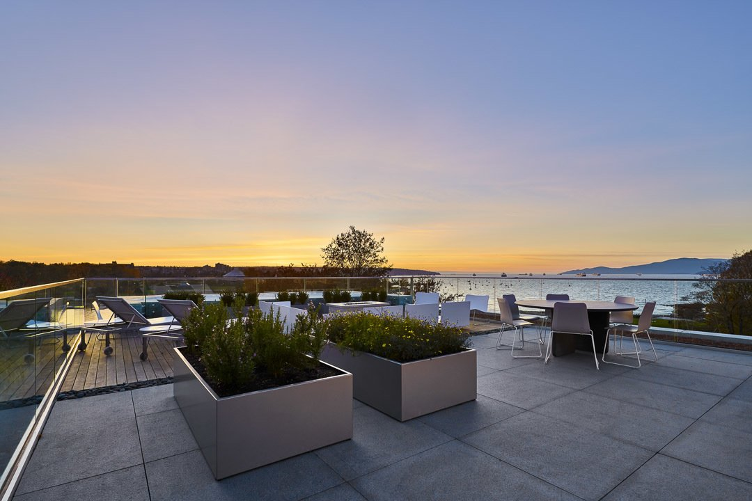 Outdoor and Large Patio, Porch, Deck The most striking view of all may be witnessing that exact moment the sun touches the sea from your window or balcony. Every evening, from every floor.  Vancouver Features Ultra Luxury Rental at Eventide