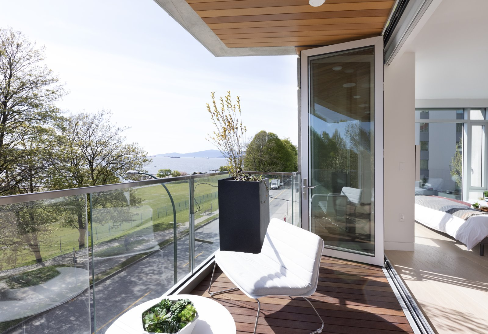 Outdoor and Large Patio, Porch, Deck Each interior is designed with white oak finish wide plank hardwood floors that span throughout spaces, complementing an open aesthetic.   Vancouver Features Ultra Luxury Rental at Eventide
