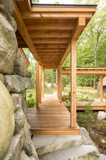 Boardwalk at outdoor fireplace
