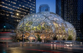 Architecture firm NBBJ designed the Spheres, the standout feature of Amazon's Seattle campus.