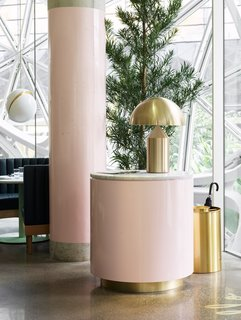 Brass and millennial pink accents give Willmott's Ghost the trendsetting treatment.