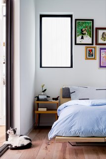 The space's pared-down bedroom brings southern comfort to new heights.