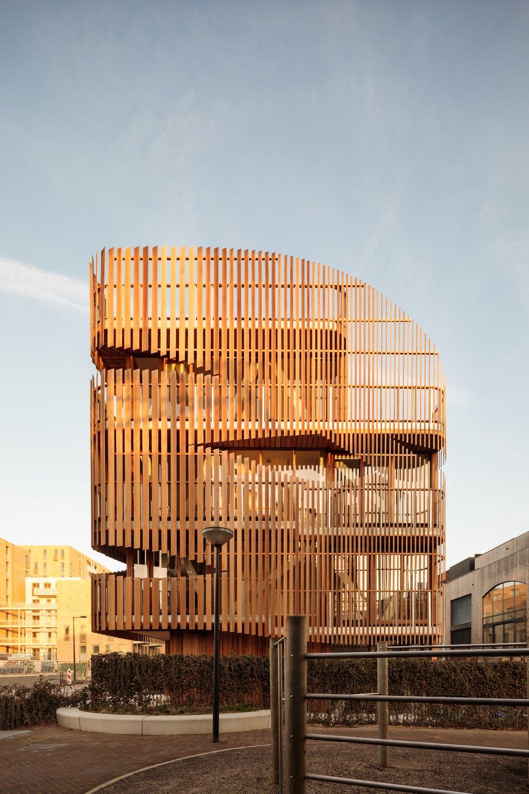 Freebooter wooden louver facade