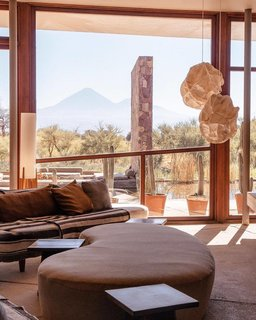 On the other side of the globe, another hotel has mastered the open-air lobby. The Tierra Patagonia Hotel offers uninterrupted views of the Atacama Desert from the moment you first walk through the front door.