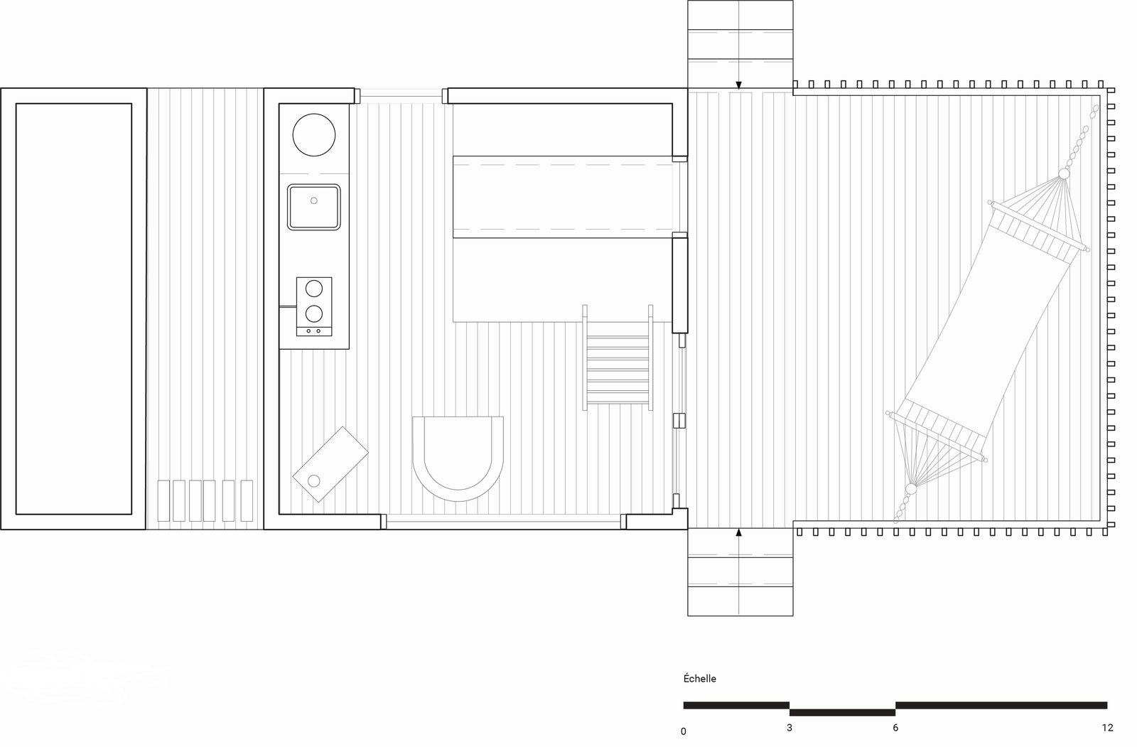 La Pointe cabin ground floor plan