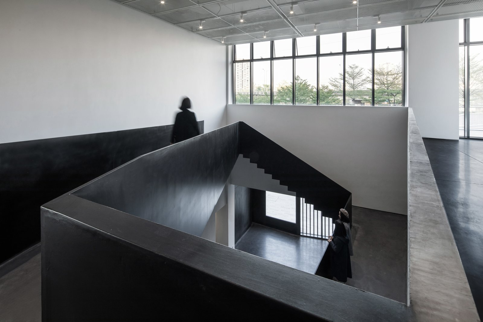 Viewing from the atrium to the outside  ZHI ART MUSEUM