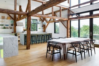 The dining room of The Barn by La Firme