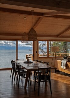 View of Lake Superior from the dining and living room.
