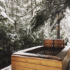 In 2020 we added a wood fired hot tub to the cabin.  Photo 19 of Shack Up Cabin modern home