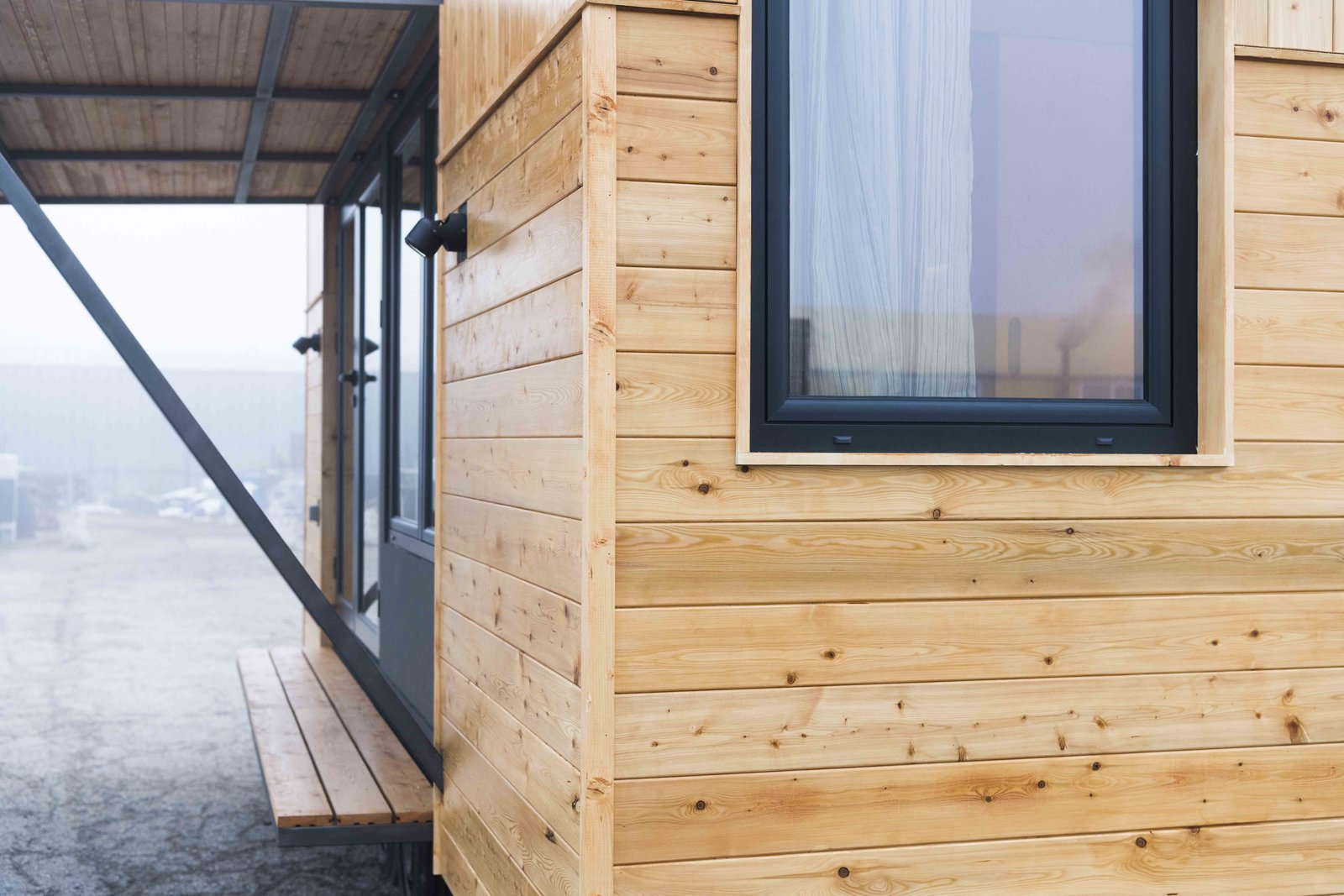 Exterior, Tiny Home Building Type, and Wood Siding Material Siberian larch cladding  KOLELIBA Family Tiny House
