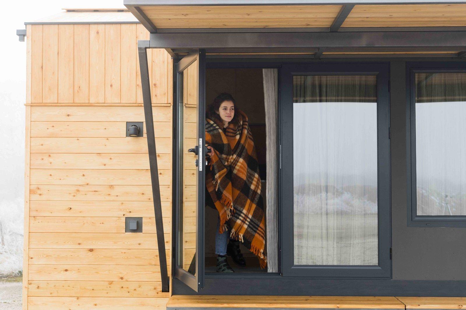 Exterior, Wood Siding Material, and Tiny Home Building Type Feel welcome  KOLELIBA Family Tiny House