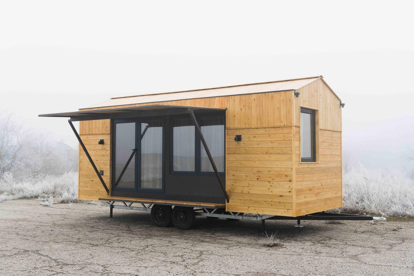Exterior, Wood Siding Material, and Tiny Home Building Type Side view  KOLELIBA Family Tiny House