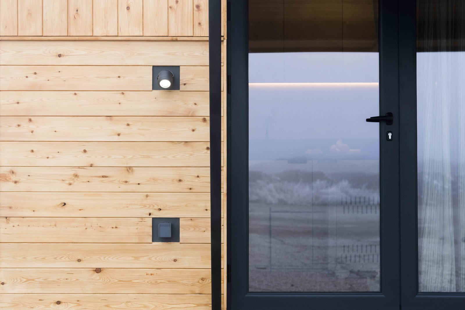 Doors, Exterior, Swing Door Type, and Metal Facade lighting  KOLELIBA Family Tiny House