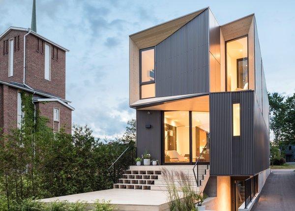 Best 60+ Modern Exterior Metal Siding Material Design Photos