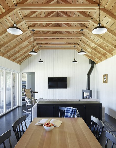 Long Cabin dining and living rooms.