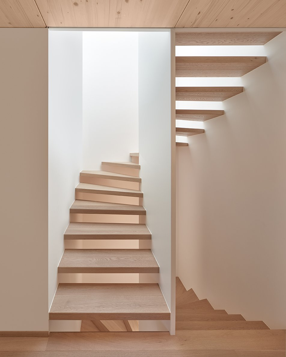 Staircase and Wood Tread Staircase  Best Photos from Semi detached house on a hillside