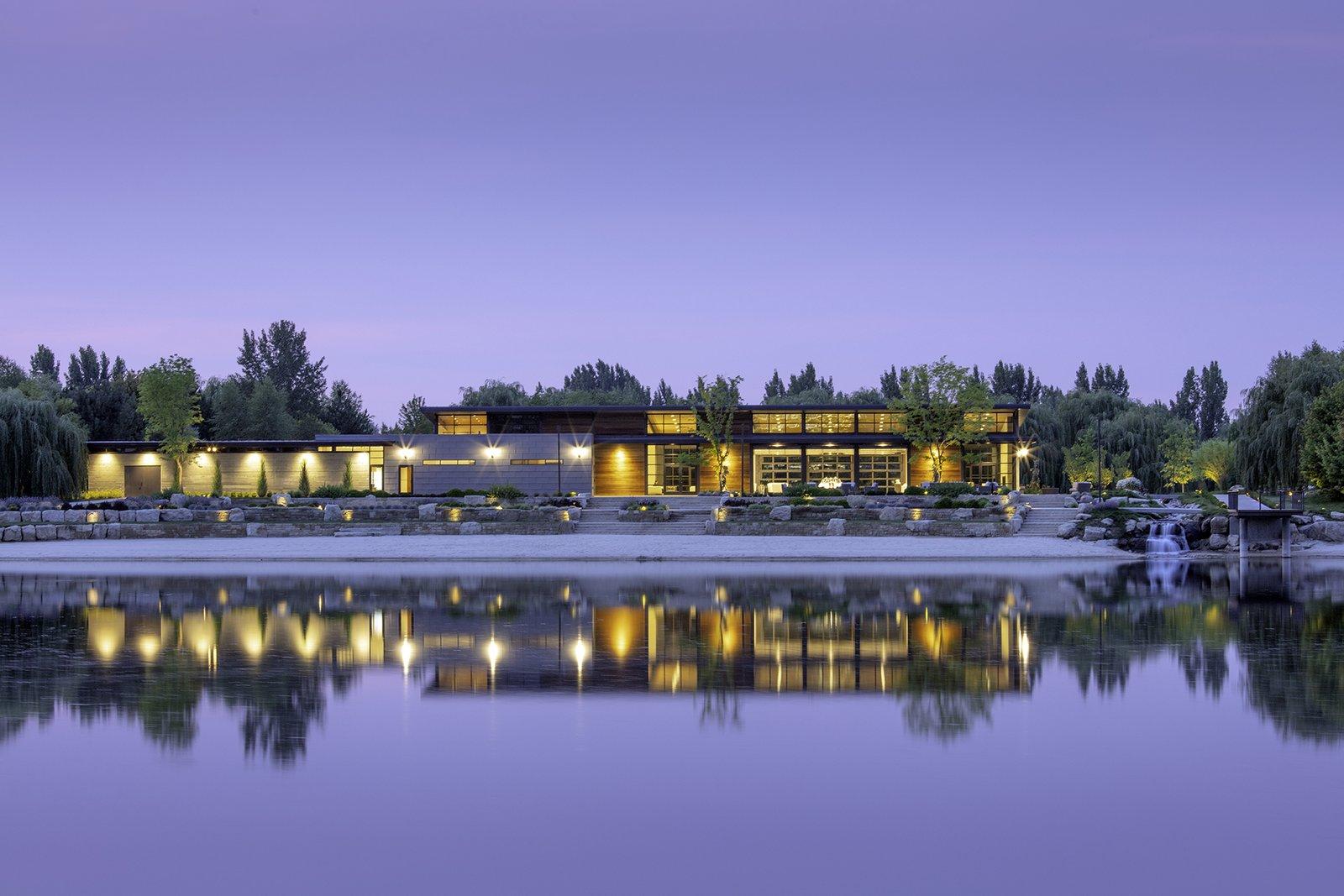 Exterior Thompson Lake House  Thompson Lake House by Cushing Terrell