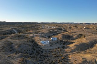 The private bubble rooms are set apart from the rest of the lodgings at Basecamp Terlingua.