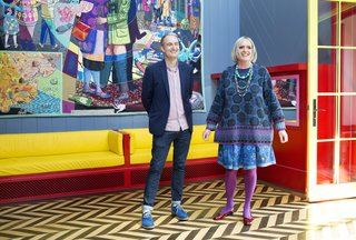 FAT Architecture Partner with artist Grayson Perry are all smiles inside A House For Essex.