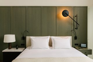 Guest rooms feature hand-made lighting and hand-woven textiles.