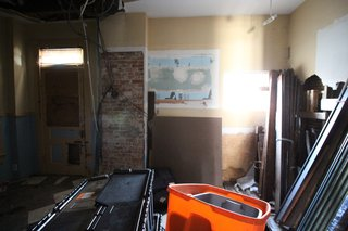 Before: The kitchen lacked natural light and a functional layout.