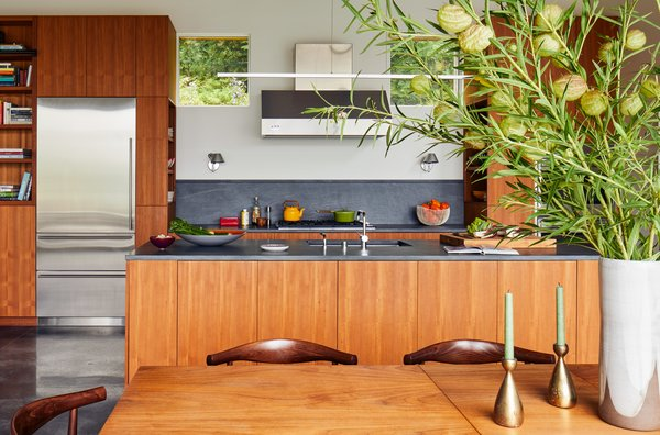 The kitchen is one of McBride's favorite architectural moments in the open-concept great room.