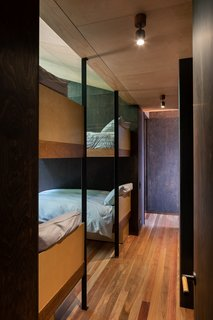 The bunk room is a clever addition to maximize sleeping quarters, while keeping the footprint as small as possible.