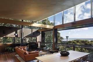 The most important aspect of designing this home was capturing the views from every angle. By placing the home on stilts, Herbst was able to make the best use of the surroundings.