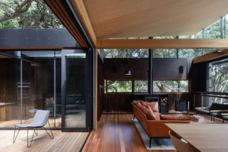 Light floods into the indoor/outdoor living area.