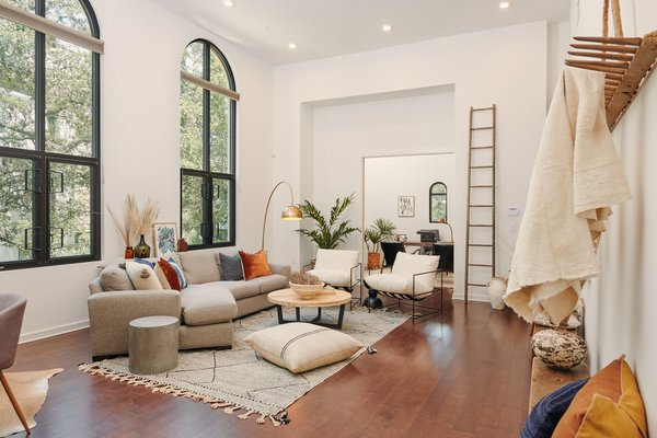 In Austin's coveted Bouldin Creek neighborhood, Rhode Partners has converted a Mission Revival–style church into four two-story, loft-style homes that enjoy 15-foot ceilings and historic details.