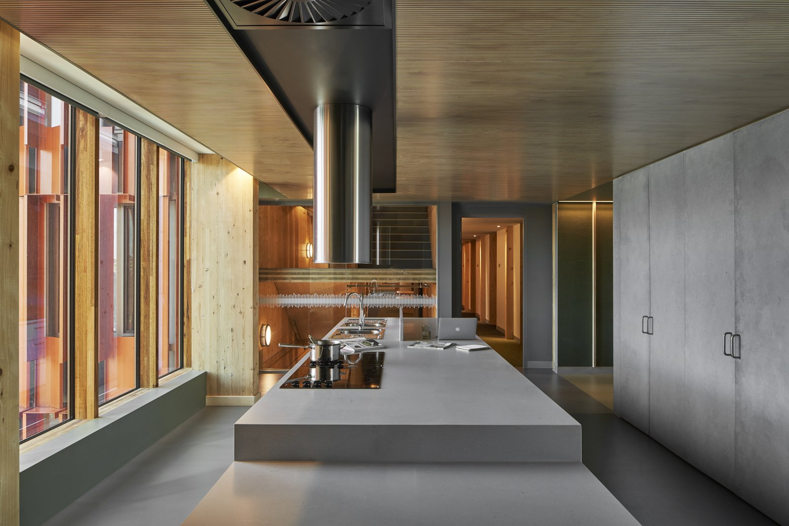 Gillies Hall at Monash University by JCB Architects common kitchen