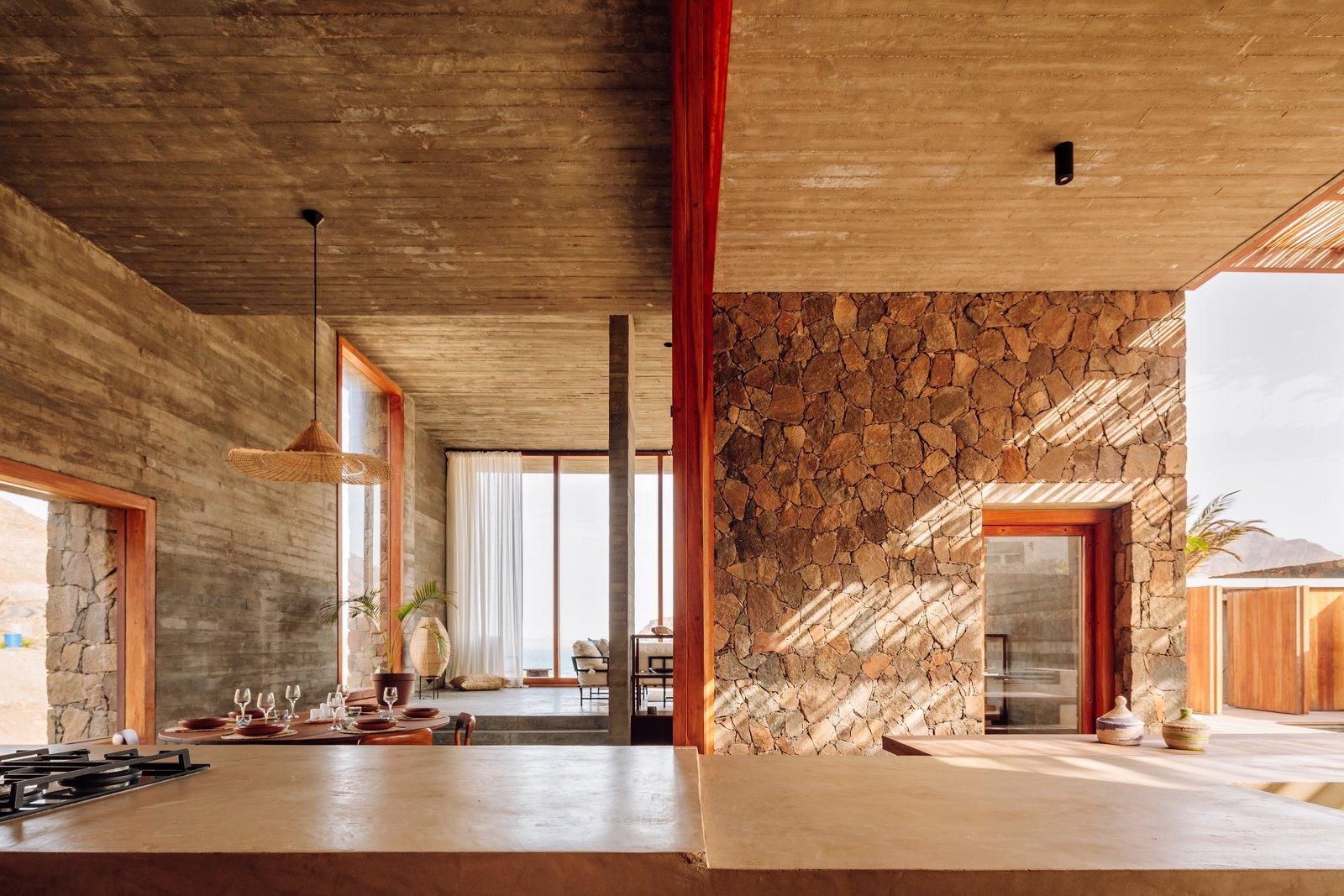 The Esculturas POLO Architects Cabo Verde kitchen