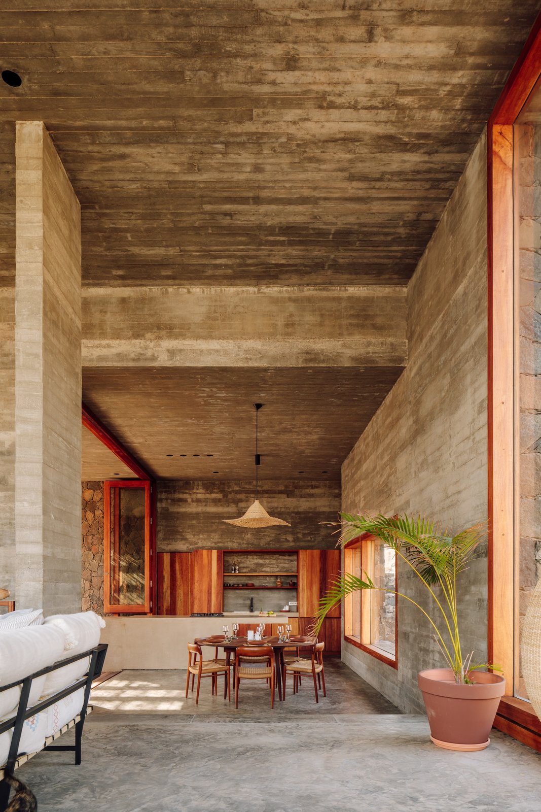 The Esculturas POLO Architects Cabo Verde dining room