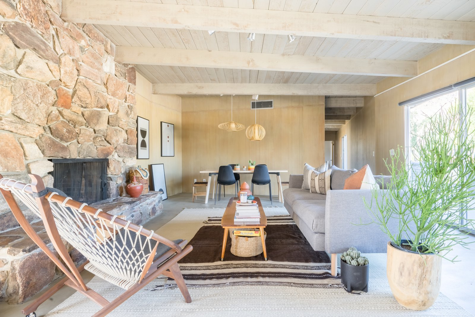 Borrego Springs midcentury renovation The Grove Collective living room
