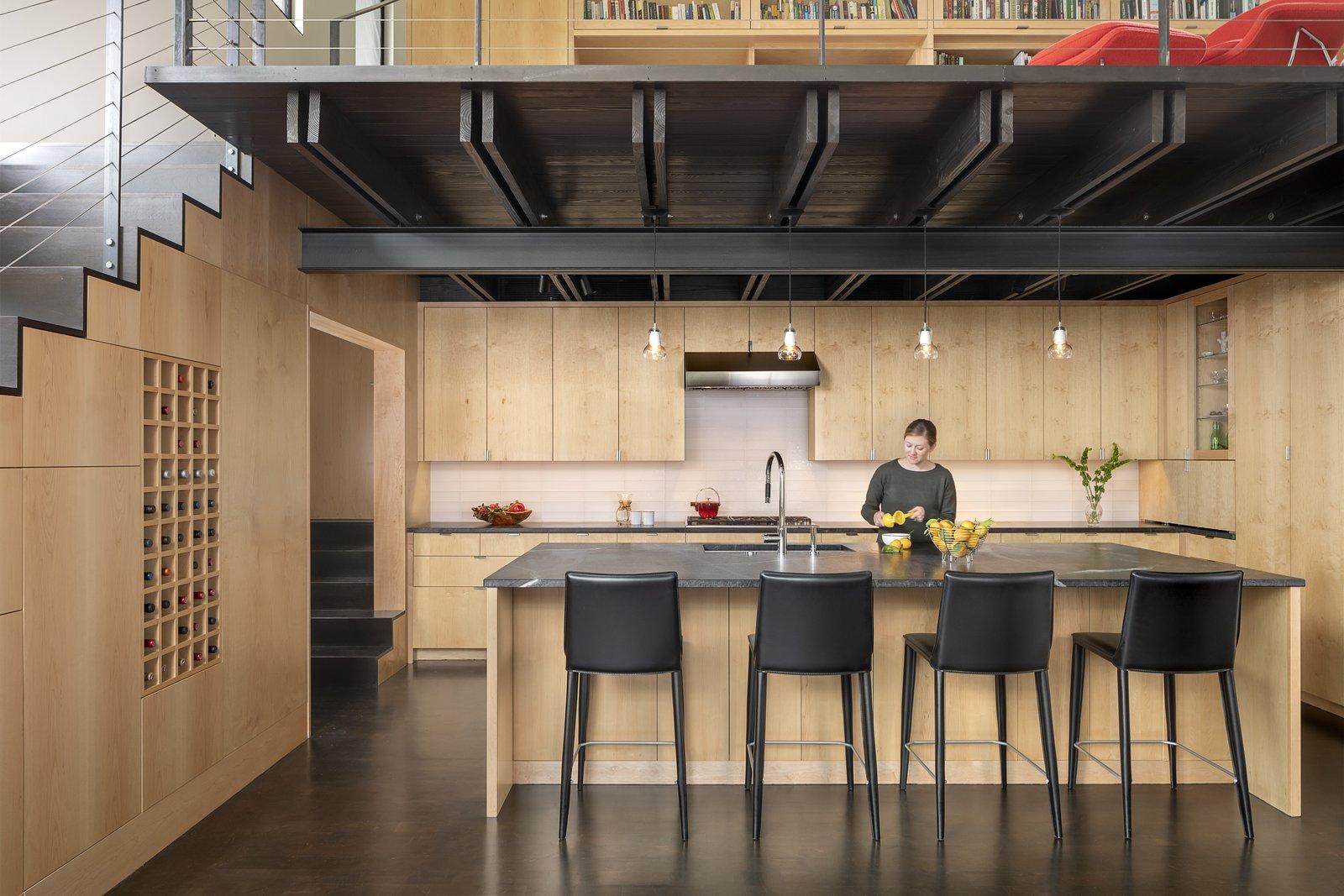 Rollingwood Residence by Lake|Flato Architects maple wood kitchen
