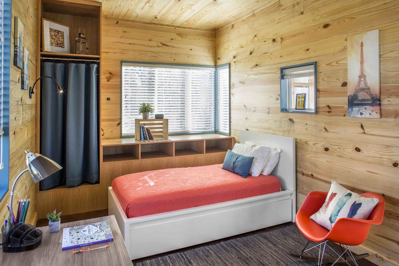 Community First! Village micro-home McKinney York bedroom