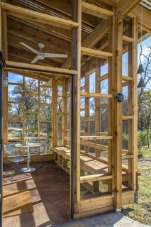 The approximately 60-square-foot front porch is the common denominator in all of the Community First! Village micro homes and is one of the main factors that has created such a strong sense of community there.