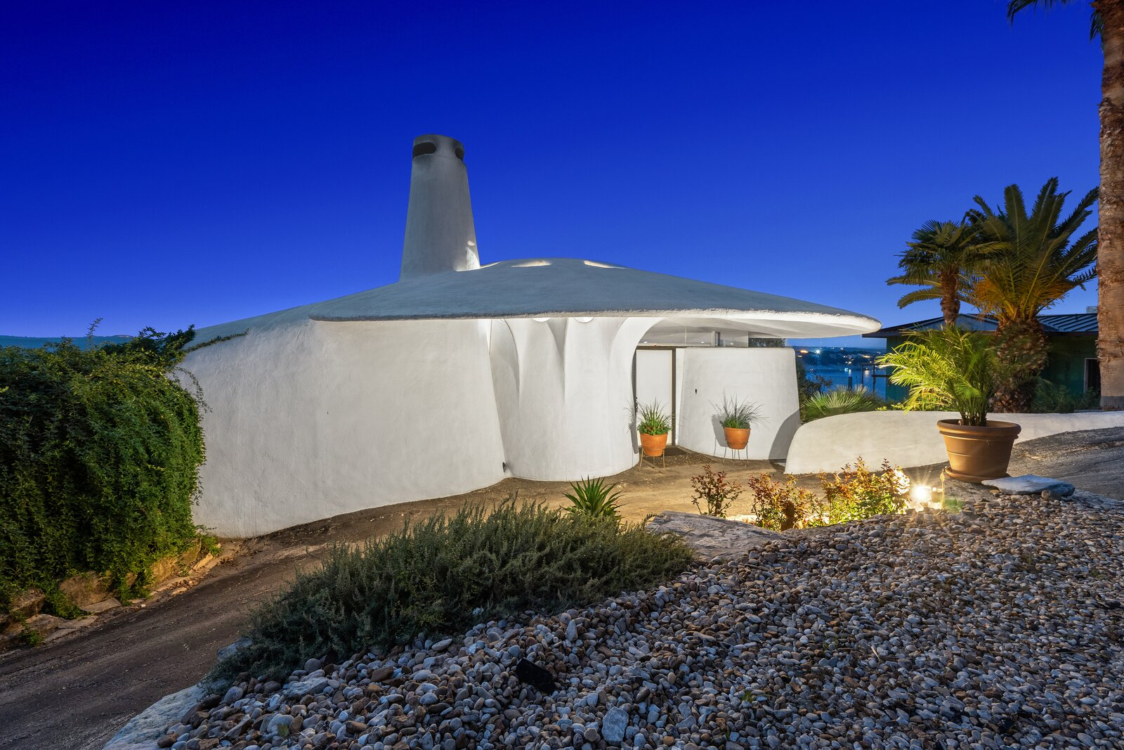 The home is also referred as the Nautilus house, as well as the Mushroom House.  Photo 6 of 7 in Austin's Weird and Wonderful Sand Dollar House Can Be Yours for $2.2M Clams