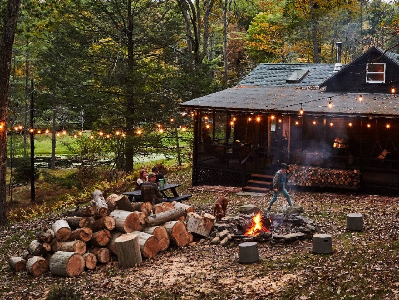 Highland Bungalow by Lauren Wesley Spear backyard fire pit